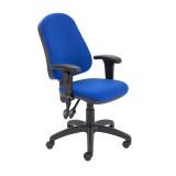 Calypso Ii High Back Chair With Adjustable Arms - Royal Blue