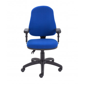 Calypso Ii High Back Chair With Adjustable Arms - Royal Blue