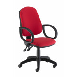 Calypso Ii High Back Chair With Fixed Arms - Red