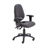 Calypso Ergo Chair With T Adjustable Arms - Charcoal