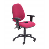 Calypso Ergo Chair With T Adjustable Arms - Claret