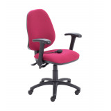 Calypso Ergo Chair With Folding Arms - Claret