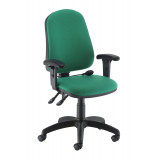 Calypso Ergo Chair With T Adjustable Arms - Green