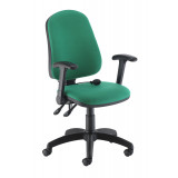 Calypso Ergo Chair With Folding Arms - Green