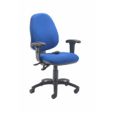 Calypso Ergo Chair With T Adjustable Arms - Royal Blue