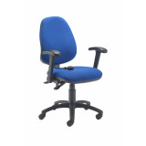 Calypso Ergo Chair With Folding Arms - Royal Blue
