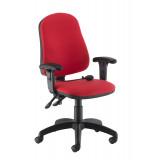 Calypso Ergo Chair With T Adjustable Arms - Red