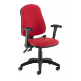 Calypso Ergo Chair With Folding Arms - Red