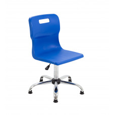 Titan Swivel Senior Chair - 435-525mm Seat Height - Blue With Glides