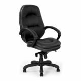Brighton- Stylish Leather Faced Executive Armchair - Black