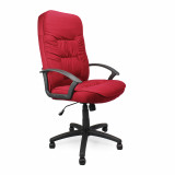 Coniston- High Back Fabric Executive Armchair - Wine