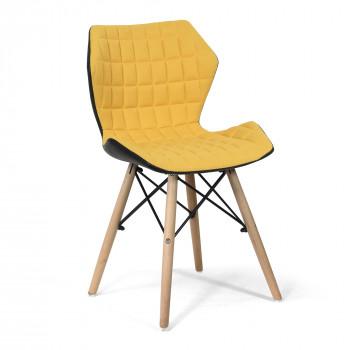 Amelia-Stylish Lightweight Fabric Chair- Mustard