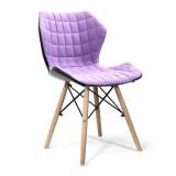 Amelia-Stylish Lightweight Fabric Chair- Purple