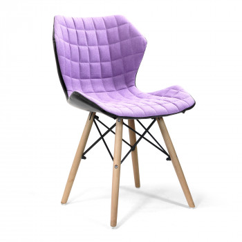 Amelia-Stylish Lightweight Fabric Chair- Purple