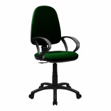 Java-100-High Back Operator Chair With Arms - Green