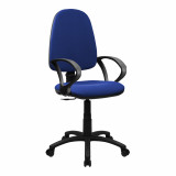 Java-100-High Back Operator Chair With Arms - Blue
