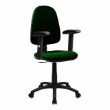 Java-100-High Back Operator Chair With Height Adjustable Arms - Green