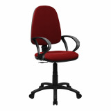 Java-100-High Back Operator Chair With Arms - Red