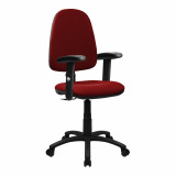 Java-100-High Back Operator Chair With Height Adjustable Arms - Red