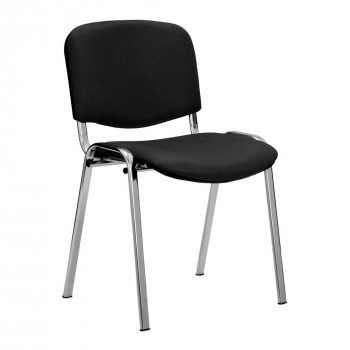 Iso- Chrome Framed Stackable Conference/Meeting Chair - Black - Minimum Order Quantity-10