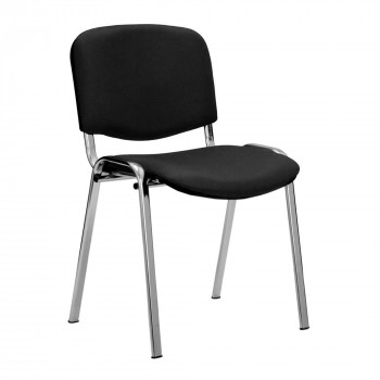 Iso- Vinyl Chrome Framed Stackable Conference/Meeting Chair - Black - Minimum Order Quantity-10