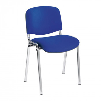 Iso- Chrome Framed Stackable Conference/Meeting Chair - Blue - Minimum Order Quantity-10