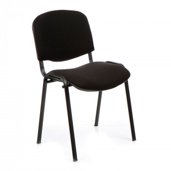 Iso- Black Framed Stackable Conference/Meeting Chair - Black - Minimum Order Quantity-10