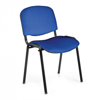 Iso- Black Framed Stackable Conference/Meeting Chair - Blue - Minimum Order Quantity-10