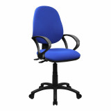 Java-200-High Back Operator Chair With Arms - Blue