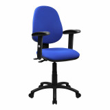 Java-200-High Back Operator Chair With Height Adjustable Arms - Blue