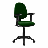 Java-200-High Back Operator Chair With Height Adjustable Arms - Green