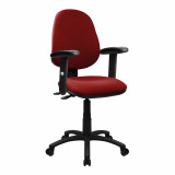 Java-200-High Back Operator Chair With Height Adjustable Arms - Red
