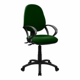 Java-300-High Back Synchronised Operator Chair With Arms - Green
