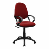 Java-300-High Back Synchronised Operator Chair With Arms - Red