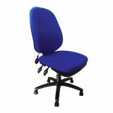 Carlisle- Pump Up Lumbar Operator Chair- Blue