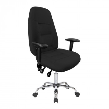 Babylon-24 Hour Operator Chair- Fabric- Black