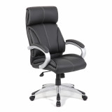 Cloud- Leather Faced Managers Chair- Black