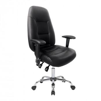Babylon-24 Hour Operator Chair- Leather- Black