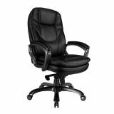 Kiev- Leather Executive Chair- Black
