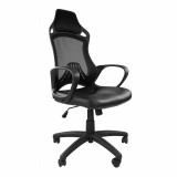 Ascot-Mesh Chair Wit Pu Seat-Black