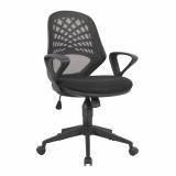 Lattice- Mesh Back Operator Chair- Black