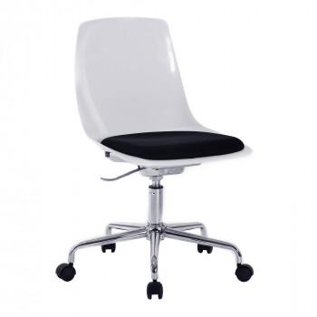 Flow- Designer White Shell Swivel Chair