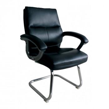 Greenwich- Pu Visitors Chair- Black