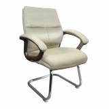 Greenwich- Pu Visitors Chair- Cream