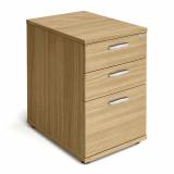 Desk High Pedestal - 600mm - Oak