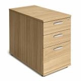 Desk High Pedestal - 800mm - Oak
